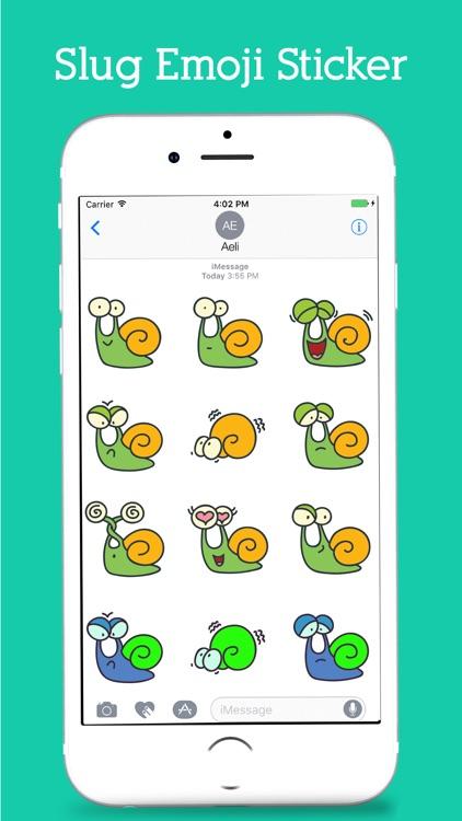 Snail Emoji Stickers Pack screenshot-3