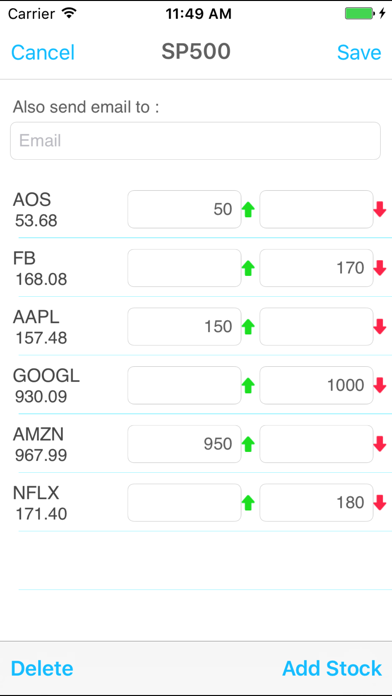 Sp 500 Price Alert review screenshots