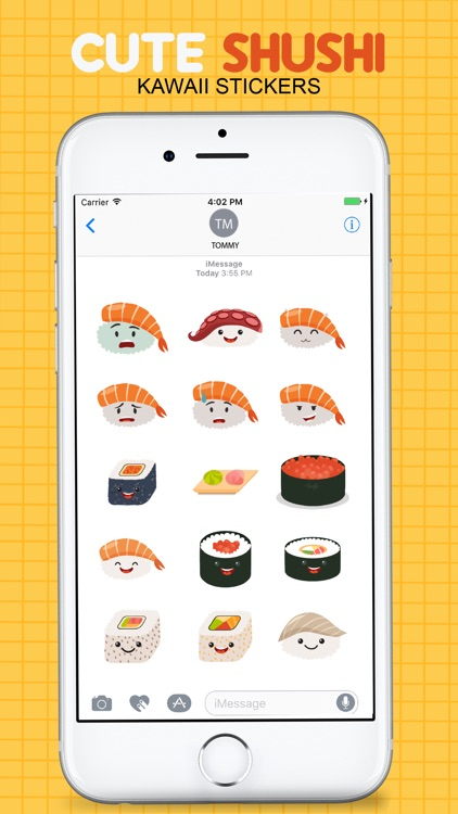 Sushi Kawaii Stickers screenshot-2