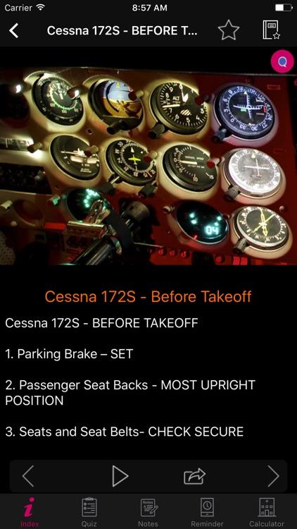 Cessna 172S/SP Checklist