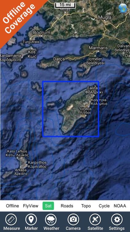 Rhodes - GR Island - GPS Chart screenshot-4