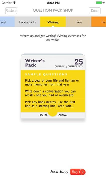 Q&A Diary - Roller Journal screenshot-4