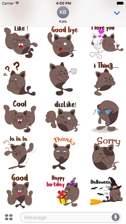 Chocolate cat emoji & sticker
