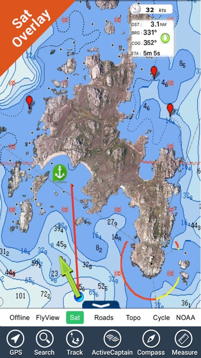 Corsica Nautical Charts Gps Hd review screenshots