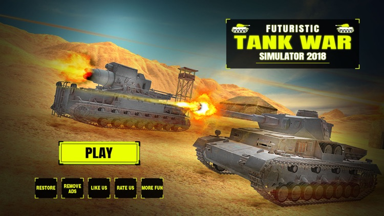 Futuristic Tank War Simulator 2018 screenshot-0