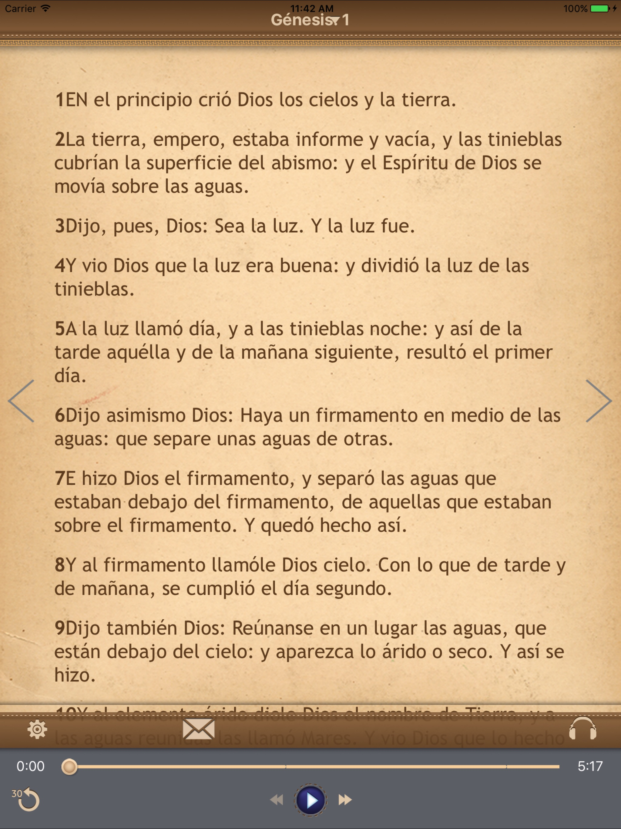La Biblia Católica con audiobook para iPad Screenshot