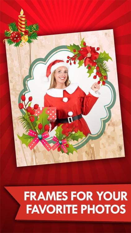 Christmas photos frame editor