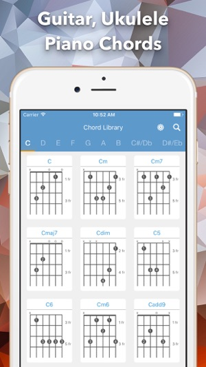 Chord Library Guitar Ukulele And Piano Chord On The App Store