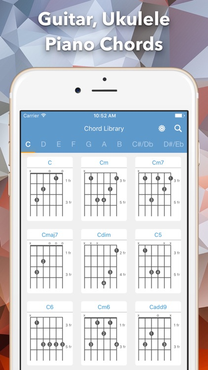 Chord Library Guitar Ukulele And Piano Chord By Thien Nguyen