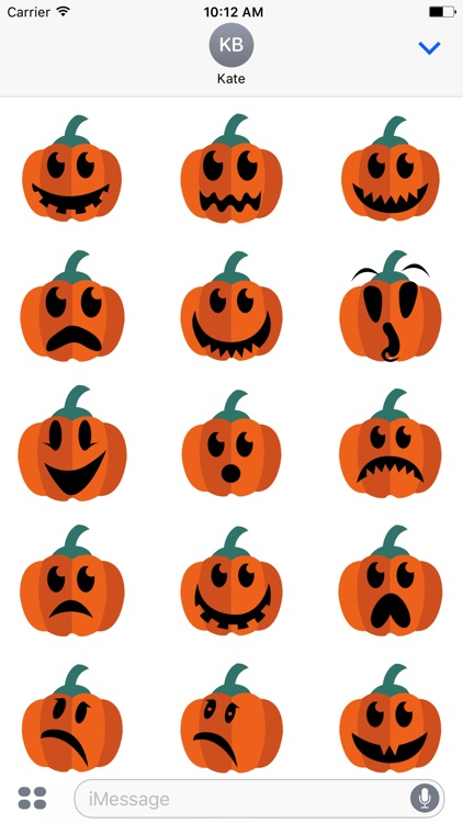 Pumpkin emoji & stickers