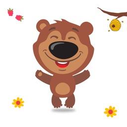 Brown Bear Cute Stickers