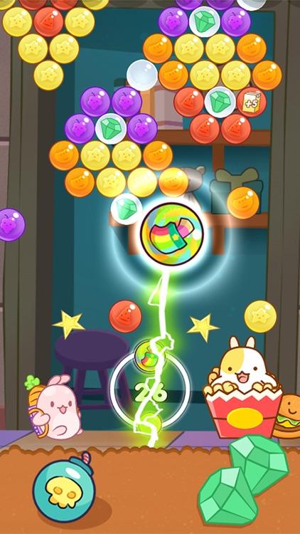 Bubble cookie pop