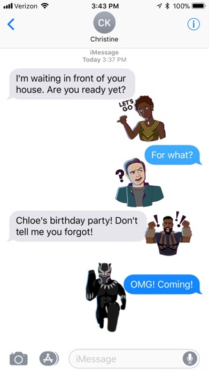 Marvel Stickers: Black Panther Screenshot