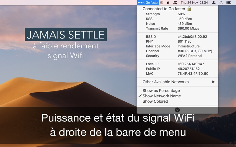 Screenshot Wifi Signal Force Explorer
