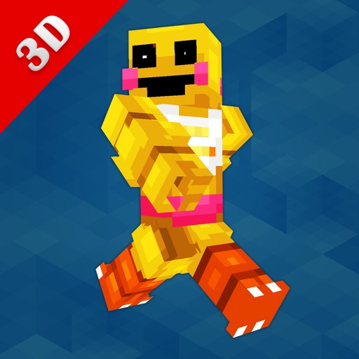 3D FNAF Skin Editor for Minecraft PE+PC Icon