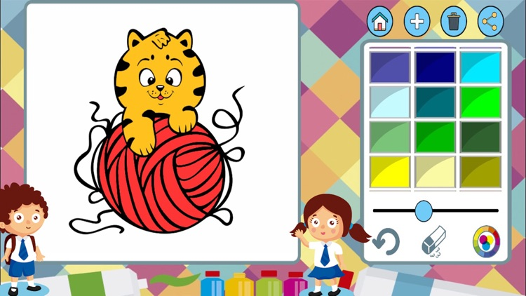 Dogs cats paint coloring book screenshot-4