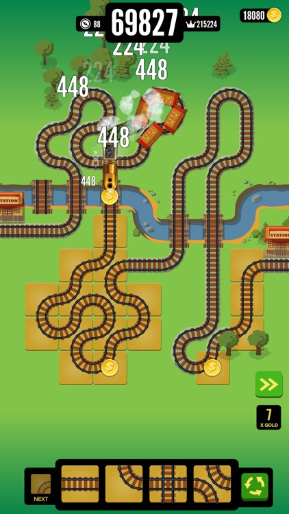 Gold Train FRVR - Railway Maze