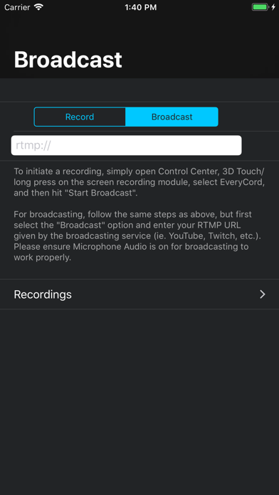 EveryCord - Record & Broadcast Screenshots