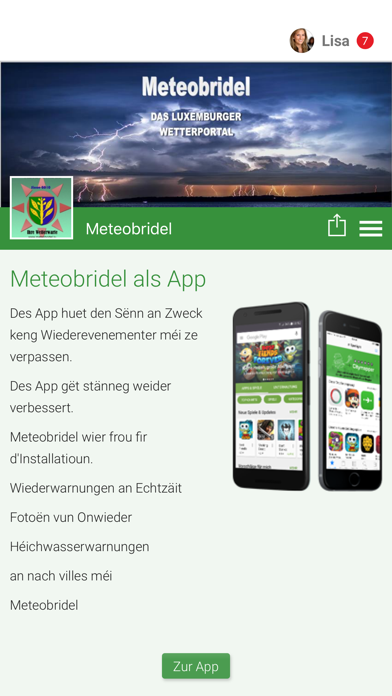 Messnetz Meteobridel screenshot 1