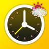 屏保时钟-带天气信息的模拟表盘时钟