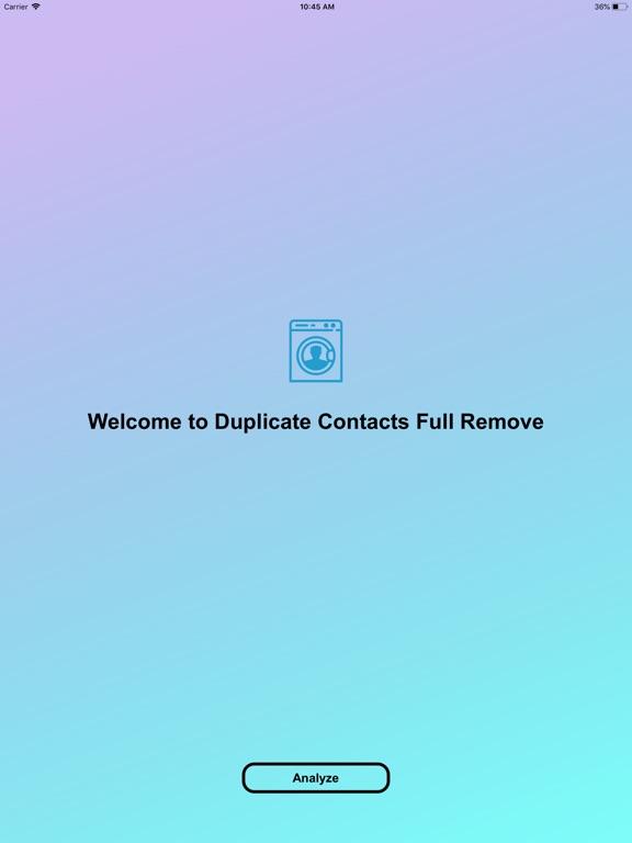 Duplicate Contacts Full Remove Screenshots