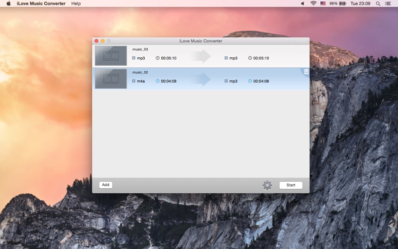 iLove Music Converter for Mac