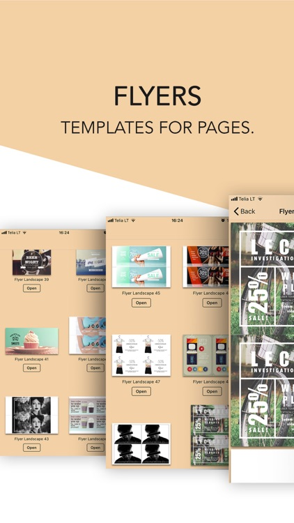 Flyers Templates for Pages