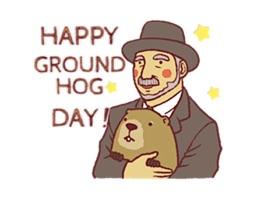 Happy Groundhog Day Sticker