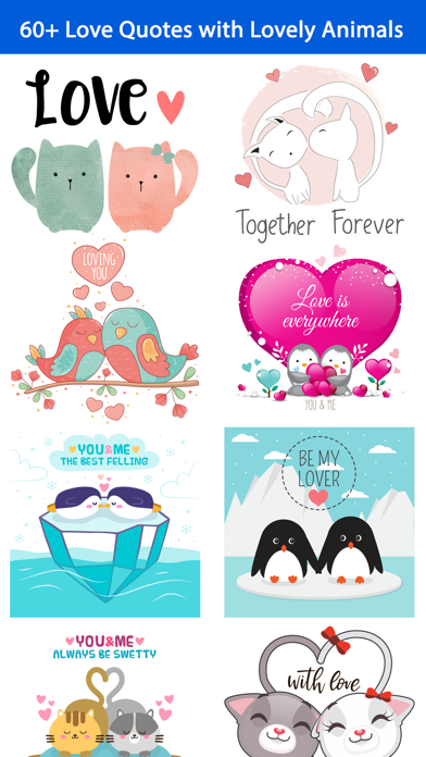 Love Quotes with Lovely & Cute Animal Couple Pack screenshot 1