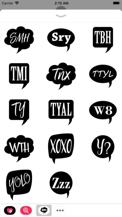 Chat Abbreviations Pack screenshot-3