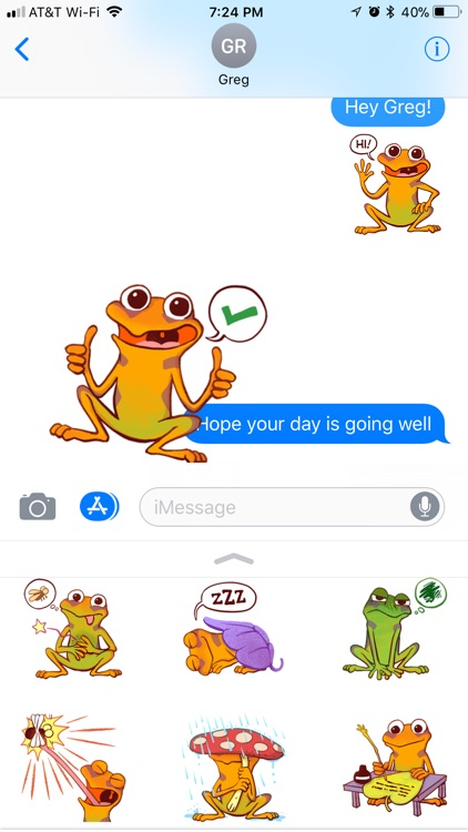 Orange Frog Sticker Pack
