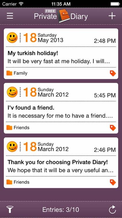 Private Diary Lite screenshot-3