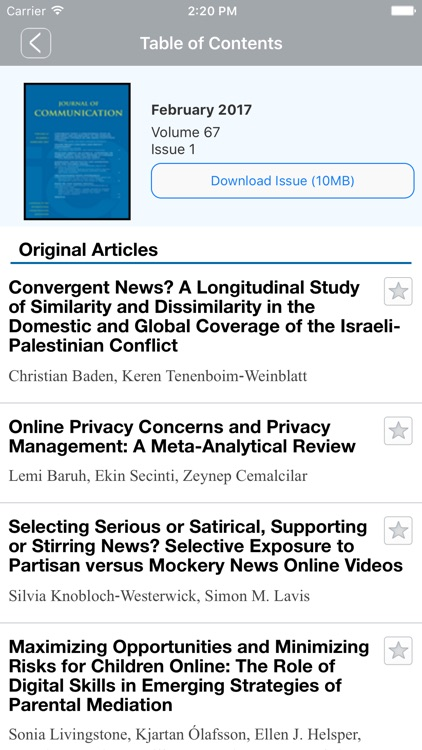 Journal of Communication screenshot-4