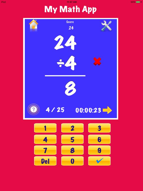 My Math Flash Cards App Screenshot 4