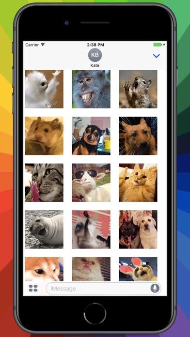 Screenshot for Broken Animals Stickers in Colombia App Store