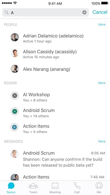 Cisco Spark screenshot-4