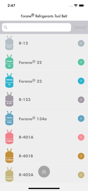 Forane Refrigerants Tool Belt On The App Store
