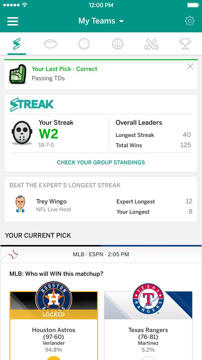 ESPN Fantasy Sports Screenshot