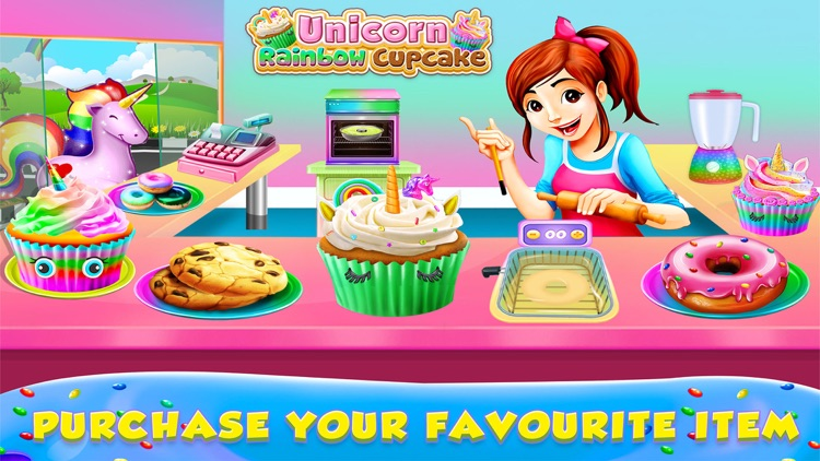 Unicorn Rainbow Cupcake screenshot-3