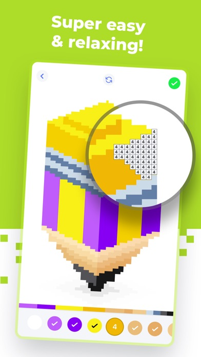 Super Pixel - Color by Number screenshot 2