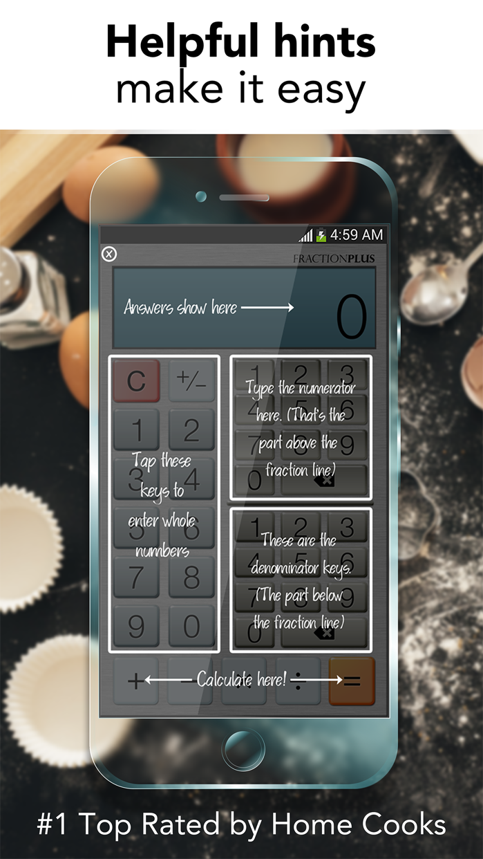 Fraction Calculator Plus - Get it right every time Screenshot