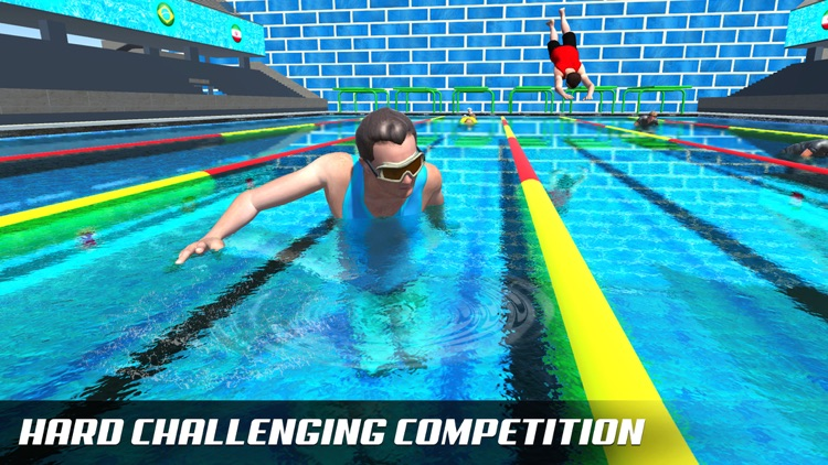 Water Swimming Diving Race screenshot-0