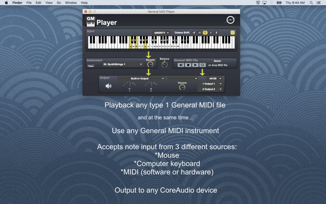General MIDI Player