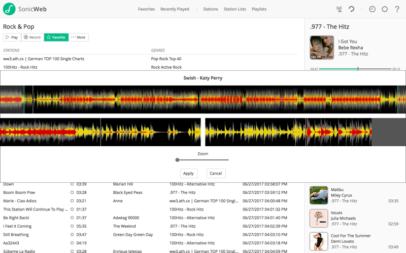 SonicWeb Internet Radio Player Screenshots