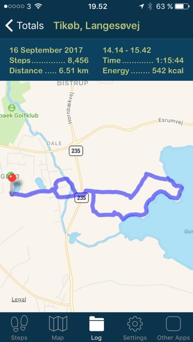iSteps GPS Pedometer PRO screenshot four