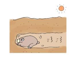 Life of Sad Groundhog Sticker