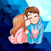 The Cute Couple Stickers