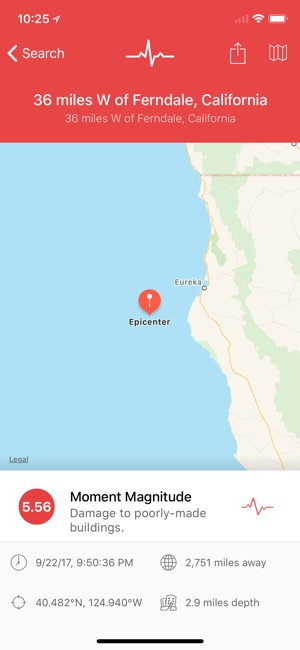 My earthquake alerts pro on the app store screenshots gumiabroncs Image collections