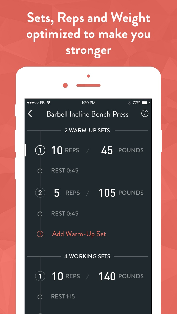Fitbod Weight Lifting Tracker Screenshot