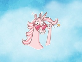 Now you can react to your friend's conversations with your favourite Lollipop Unicorn Stickers